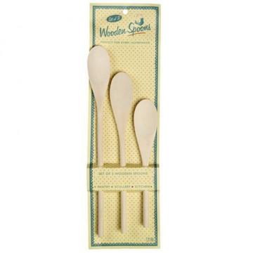 Set 3 cucharas de madera