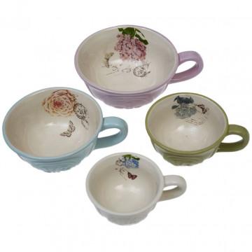 Set Tazas medidoras cerámica Botanical