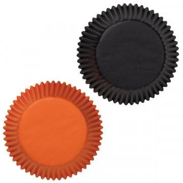 Capsulas cupcakes Negro y Naranja Wilton