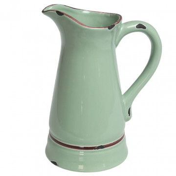Jarra de cerámica Verde Menta Vintage