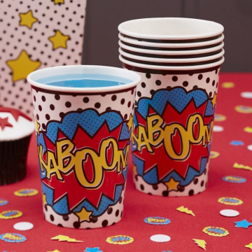 Vasos fiesta Pop art super heroes
