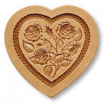 Molde Springerle Rosal Corazón
