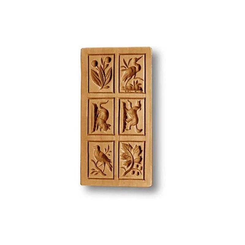 Molde Springerle 6 motivos rectangular
