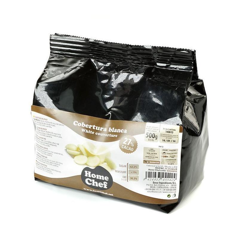 Chocolate de cobertura Blanca 27% Home Chef
