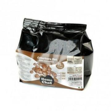 Chocolate de cobertura con leche 38% Home Chef