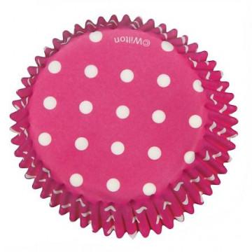Capsulas cupcakes Dots Fucsia Wilton
