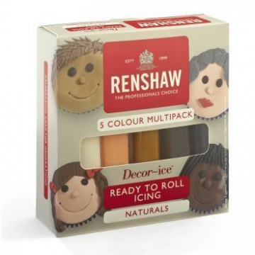 Pack 5 fondant :Colores Naturales Renshaw