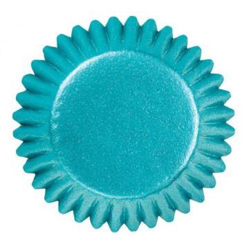 Cápsulas bombón metalizadas azul Wilton