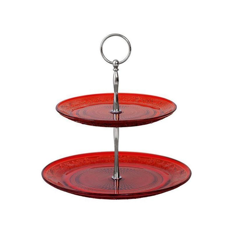 Stand presetación cupcakes pastelitos cristal rojo Green Gate