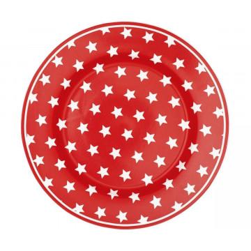 Plato de cerámica postre Star Red Green Gate
