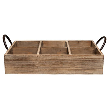 Caja decorativa madera con compartimentos Green Gate