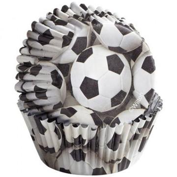 Capsulas cupcakes antigrasa Futbol Wilton
