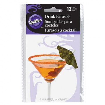 Pack de 12 sombrillas Halloween Wilton