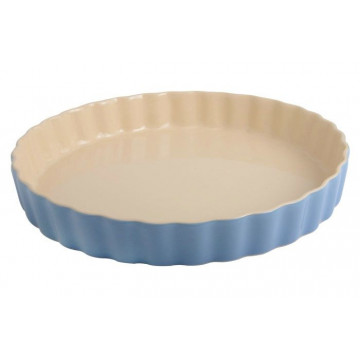 Fuente redonda de cerámica Azul