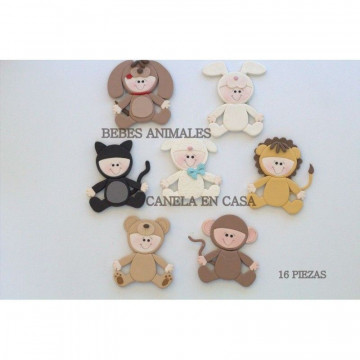 Cortante pack 16 cortantes Bebes Animales