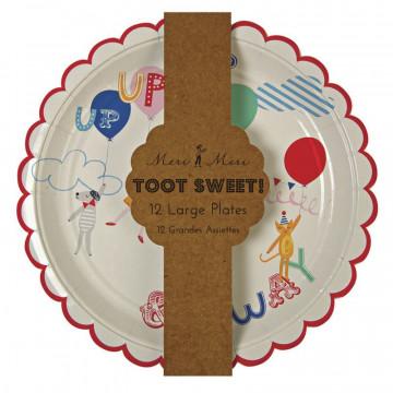 Platos fiesta Colores Toot Sweet