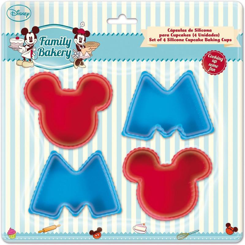 Molde silicona cupcakes pack 4 Family Bakery Disney