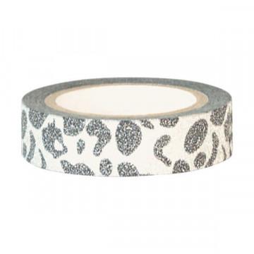 Washi tape Plata y Beig Leopardo Green Gate