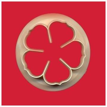 Cortante Flor cinco petalos Rosa 9 cm FMM