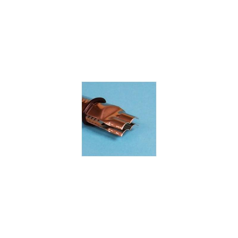 Crimper forma doble blonda cerrada Pack 2: 1,25 y 1,85cm