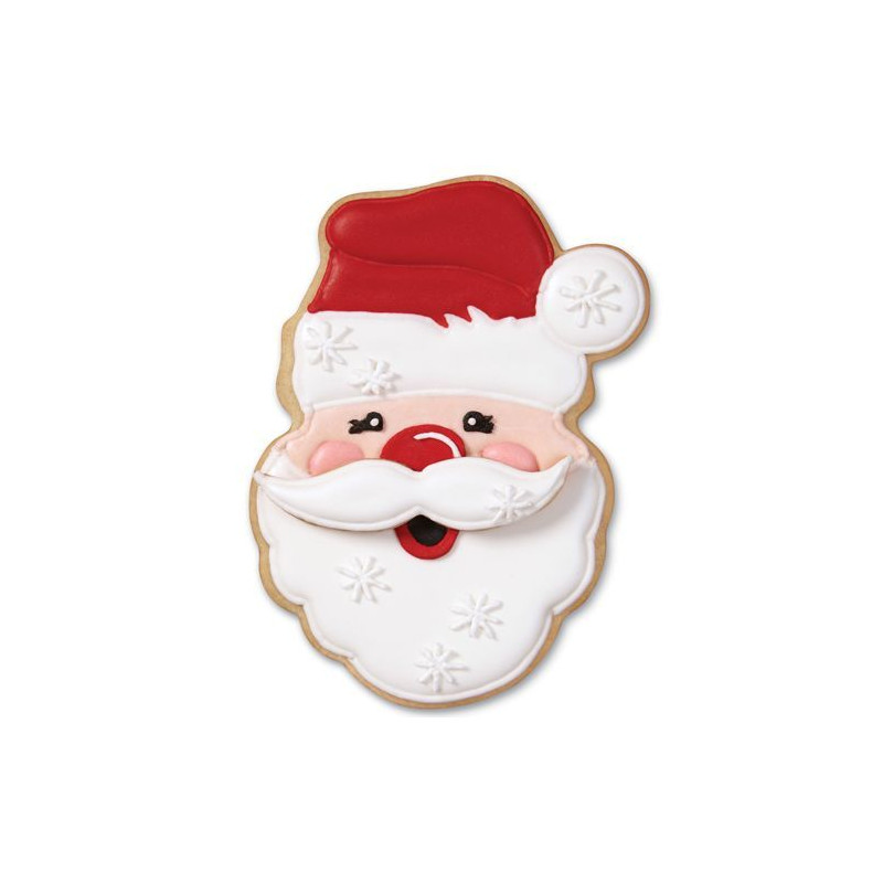 Cortante galleta Santa Claus Bigote Wilton