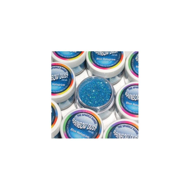 Purpurina fina Decorative Sparkles Hologram Blue Rainbowdust