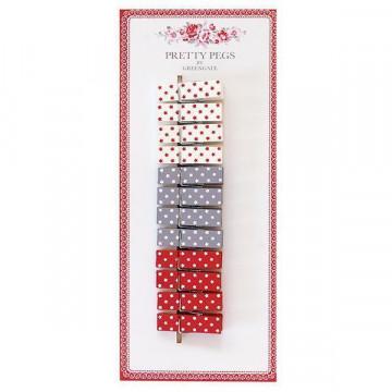 Pack de 12 mini pinzas Estrellas Green Gate