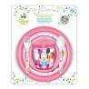 Set Vaso + Cuenco + Plato + Cubiertos Minnie Mouse Baby