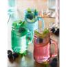 Set 2 Jarra de cristal con asa + tapas + 4 pajitas + recetario  Kilner