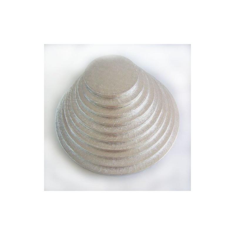 Bandeja presentación redonda plata 25 cm
