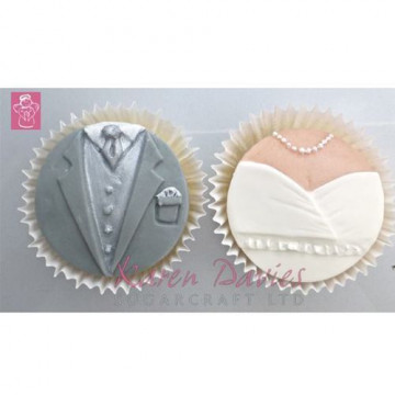 Molde silicona Novio y Novia para Cupcakes Karen Davies