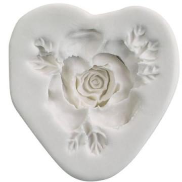 Molde Silicona en forma de Rosa