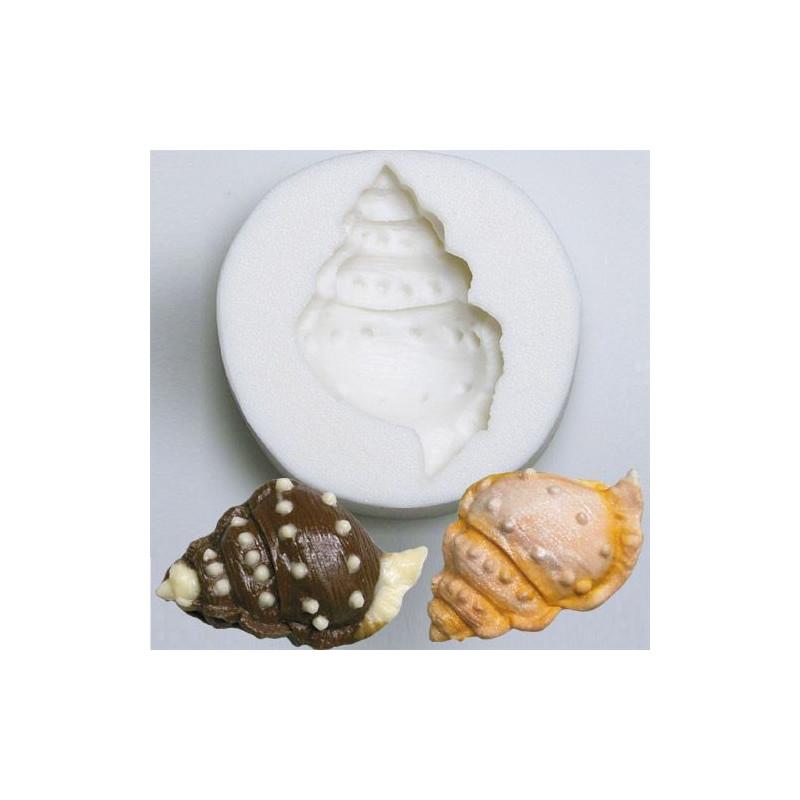 Molde Silicona en forma de Caracola de Mar