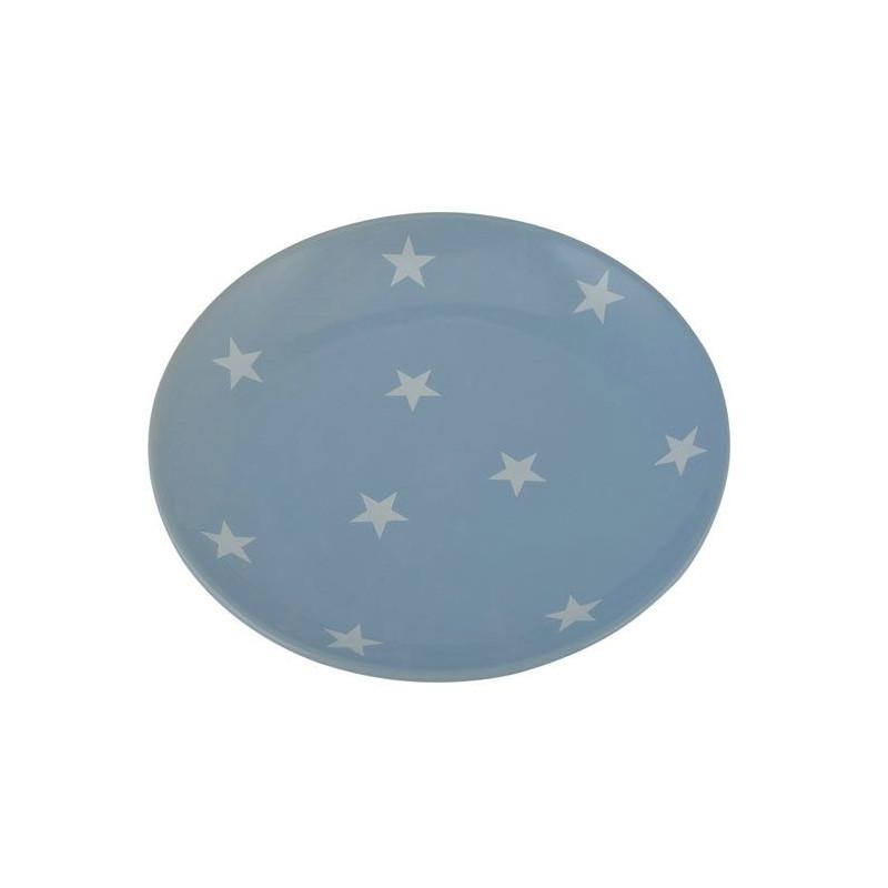 Plato de cerámica Azul con Estrellas Ib Laursen