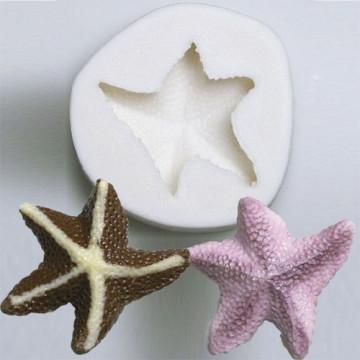 Molde Silicona en forma de Estrella de Mar