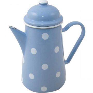 Cafetera Esmaltada Azul Lunares 1 L