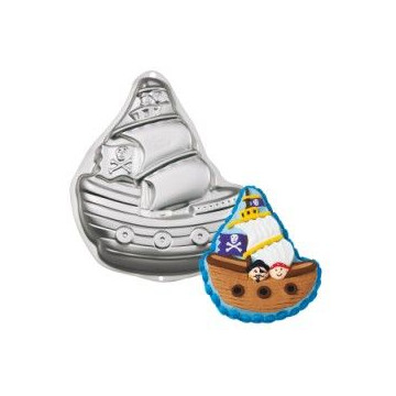 Molde bizcocho Barco Pirata