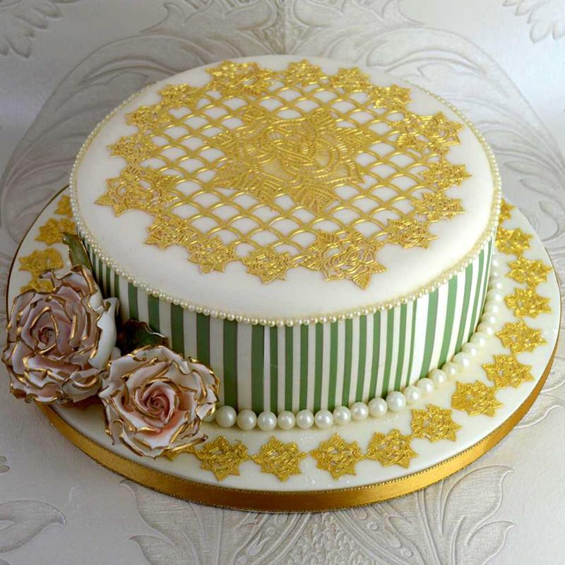 Tapete de silicona Topper Tarta Rosas Cake Lace