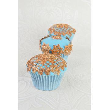 Tapete de silicona Topper Cupcakes Rosas Cake Lace