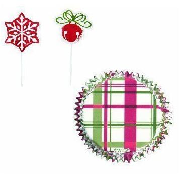 Set para cupcakes: Cascabel y Copos de nieve Wilton