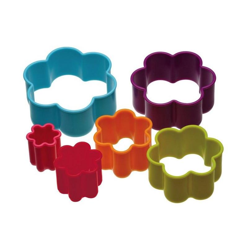 Cortante pack 6 cortantes flor colores