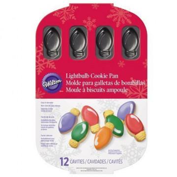 Molde 12 cavidades galletas Luces de Navidad Wilton