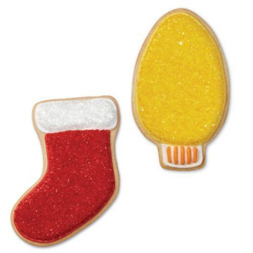 Cortante pack 3 cortantes: Corona, Luz y Calcetín Navidad Wilton