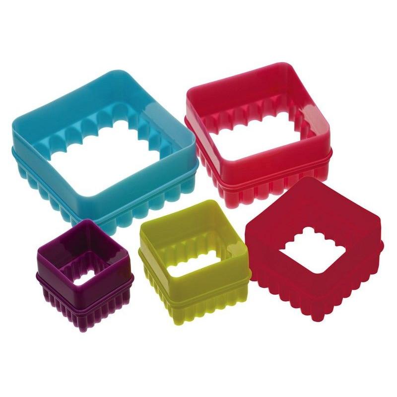 Cortante pack 5 cortantes cuadrado con blonda colores