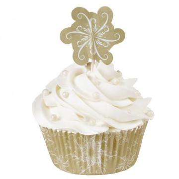 Set cupcakes: Copo nieve y Oro Wilton