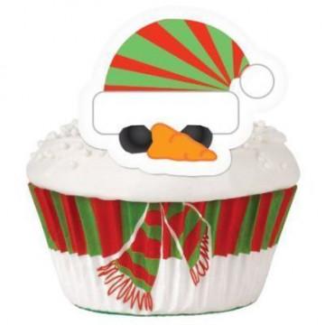 Set para cupcakes: Muñeco de Nieve Wilton