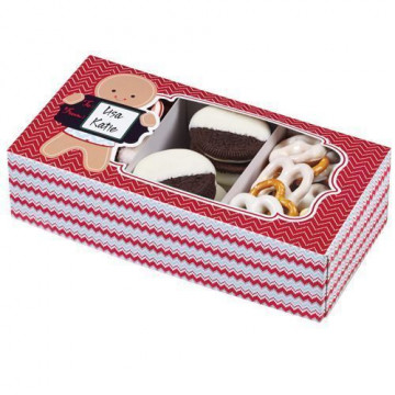 Caja dulces rectangular 3 unidades Happy Holiday to you Wilton