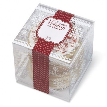 Caja transparente dulces Happy Holiday to you Wilton