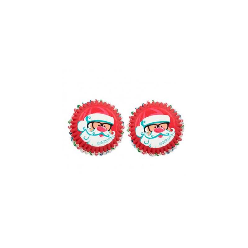 Cápsulas mini cupcakes Santa Claus Nuevo Wilton