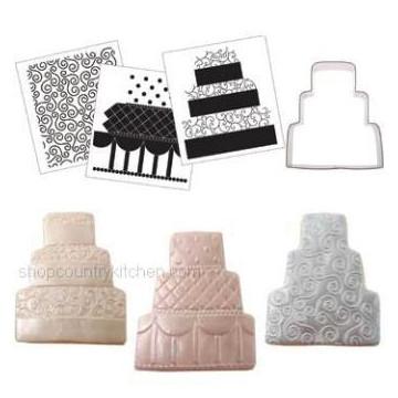 CK Cookie Cutter Texture Set tarta  de boda de tres pisos